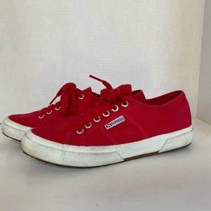 Superga- Red Canvas Tennis Shoes- Sz. 8